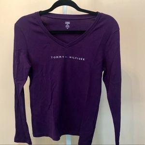 Tommy Hilfiger Tops - Tommy Hilfiger VTG Crystal Embellished LS Tshirt L